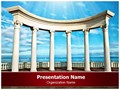 Ancient Greek columns Editable PowerPoint Template