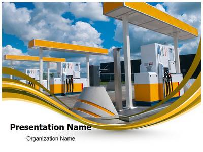 Gas Station Editable PowerPoint Template