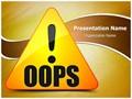 Oops Error Editable PowerPoint Template
