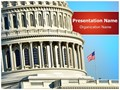 US Capitol Building Editable PowerPoint Template