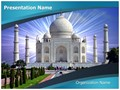 Indian Taj Mahal Editable PowerPoint Template