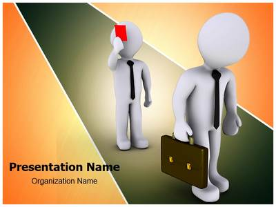 Red Card For Job Editable PowerPoint Template