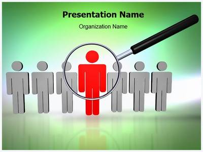 Searching Employee Editable PowerPoint Template