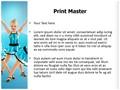 Tap Dancing Girls Editable PowerPoint Template