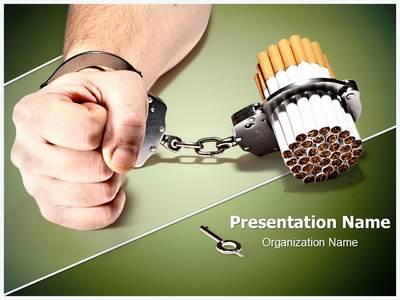 Smoking Addiction Editable PowerPoint Template