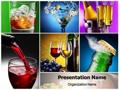 Alcohols Editable PowerPoint Template