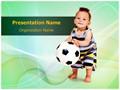 Soccer Kid Editable PowerPoint Template
