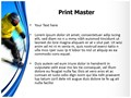 Skier Editable PowerPoint Template