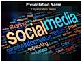 Social Media Words Editable PowerPoint Template