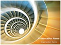 Endless Spiral staircase Editable PowerPoint Template