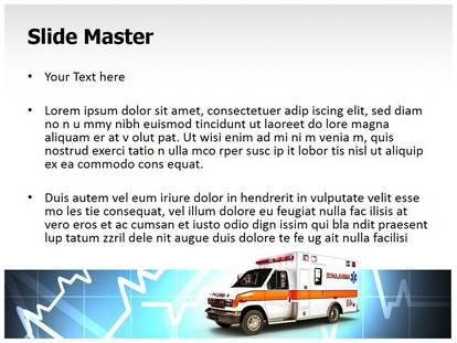 Free Ambulance Medical Point Template For Presentations