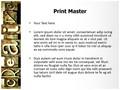 Creative Word Editable PowerPoint Template