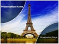 Paris Eiffel Tower Editable PowerPoint Template