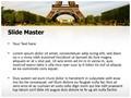 Paris Eiffel Tower Editable PowerPoint Template