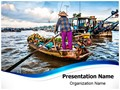 Floating Boat Market Editable PowerPoint Template