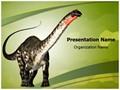 Herbivore Dinosaur Editable PowerPoint Template