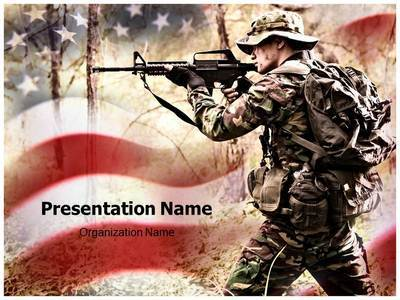 American Soldier Editable PowerPoint Template