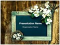 Chalkboard Nest Flowers Editable PowerPoint Template