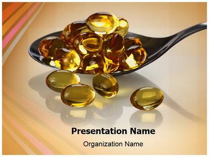 Free Vitamin Oil Capsules Medical PowerPoint Template for Medical