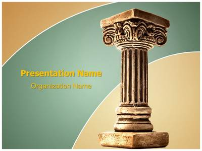 Roman Pillar Editable PowerPoint Template