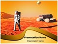 Astronaut on Mars Editable PowerPoint Template