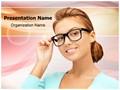 Eyesight Spectacles Editable PowerPoint Template