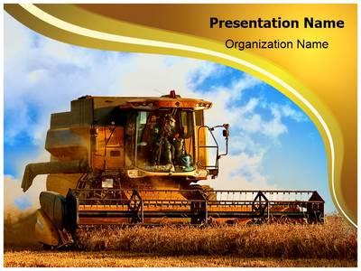 Combine Harvester Editable PowerPoint Template