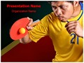 Ping Pong Ball Editable PowerPoint Template