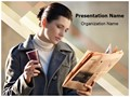 Reading Newspaper Editable PowerPoint Template
