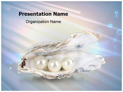 White Pearls Editable PowerPoint Template