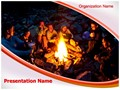Bourne Fire Editable PowerPoint Template