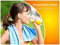 Fresh Fruit Juice Editable PowerPoint Template