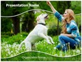 Dog Human Friendship Editable PowerPoint Template