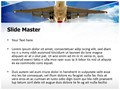 Airplane Takeoff Editable PowerPoint Template