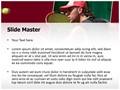 Tennis Player Editable PowerPoint Template