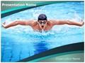 Swimmer Butterfly Stroke Editable PowerPoint Template