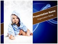 Child Smoking Editable PowerPoint Template