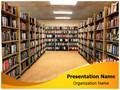 Library Bookshelf Editable PowerPoint Template