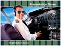 Pilot Airplane Cockpit Editable PowerPoint Template