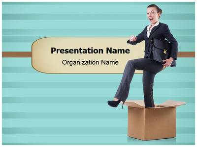 Step Out of Box Editable PowerPoint Template