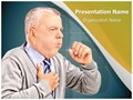 Coughing Pulmonary Disease Editable PowerPoint Template