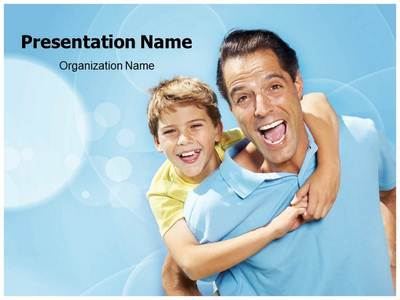Happy Father And Son Editable PowerPoint Template