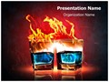 Burning Alcohol Editable PowerPoint Template