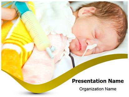 free preterm newborn medical powerpoint template for medical, Modern powerpoint