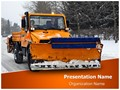 Snow Plow Truck Editable PowerPoint Template