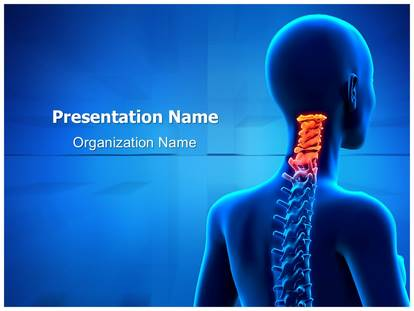 Free cervical spine anatomy medical powerpoint template for medical cervical spine anatomy powerpoint template toneelgroepblik Image collections