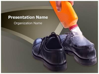 Shoe Bad Odor Editable PowerPoint Template