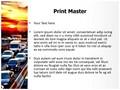 Evening Car Traffic Editable PowerPoint Template