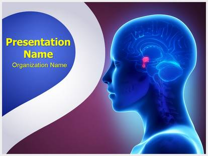 Free brain pituitary gland medical powerpoint template for medical brain pituitary gland powerpoint template toneelgroepblik Image collections