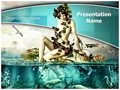 Mermaid Out of Water Editable PowerPoint Template